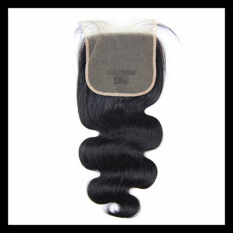 "5"" x 5"" Lace Closure - Brazilian Body Wave Virgin Human Hair"
