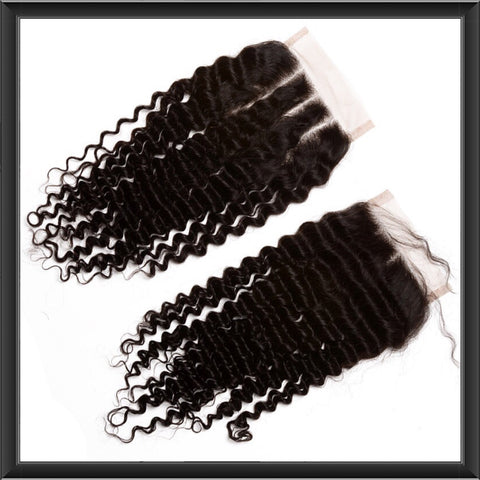 Brazilian Jheri Curl Lace Top Closure - Anna Hair Co. - 1