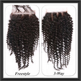 Brazilian Kinky Curl Lace Top Closure - Anna Hair Co. - 1