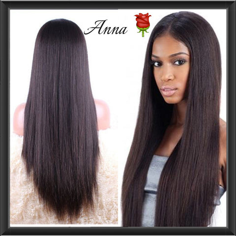 High Density Customised Silky Straight Wigs - Anna Hair Co. - 1