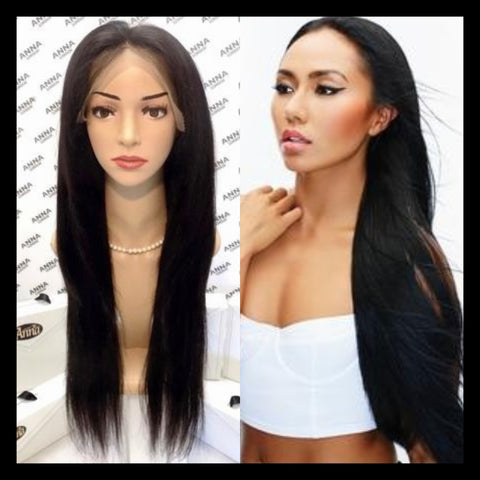 Lace Front Customised Silky Straight Wigs - annahair