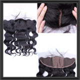Freestyle Parting Frontal Silk Base Closures - Straight & Body Wave - Anna Hair Co. - 1