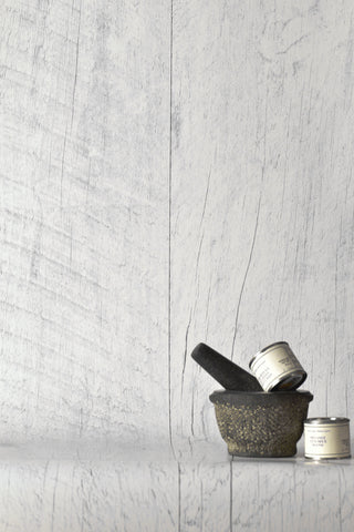 Barn Wood White Wallpaper