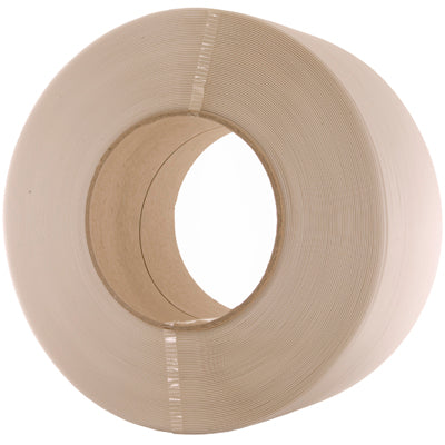 9mm X 0.55mm Machine Strapping White 115 Kg Break Strain 4000M On 200mm Core