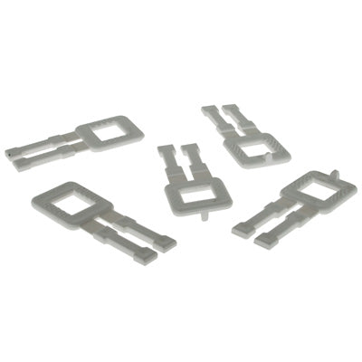 12mm Heavy Duty White Plastic Buckles (1000)