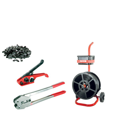 Kit-4 Tensioner/Crimper & Mobile Dispenser 12mm Strap & Seals