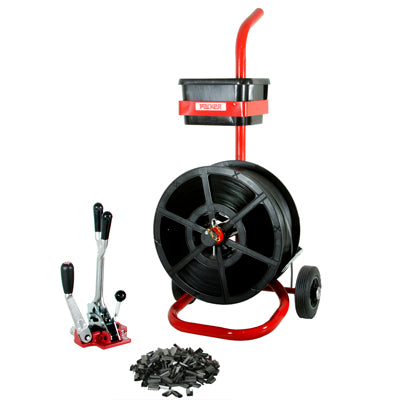 Kit-6 Combination Tensioner/Crimper & Mobile Dispenser 12mm Strap & Seals