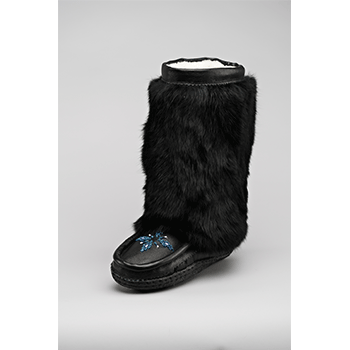 10 inch black nappa leather mukluks great plains moccasins