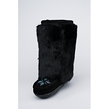 black cowhide mukluks great plains moccasins