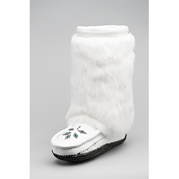 10 inch white nappa leather mukluks great plains moccasins