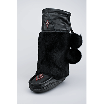 black nappa leather mukluks great plains moccasin factory