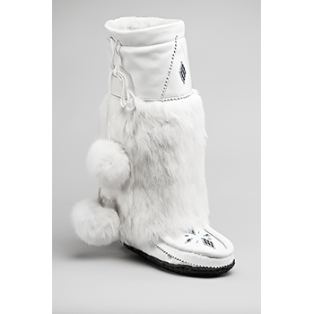 white leather mukluks great plains moccasin factory