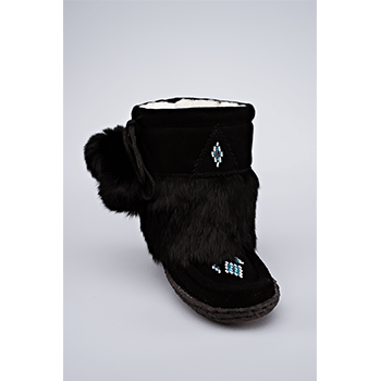 child mukluk black great plains moccasin factory
