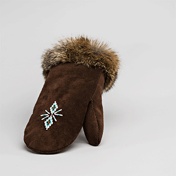 brown leather mitt great plains moccasin factory