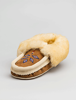 Sheepskin Moccasin Beaded Sheepskin Cuff Adult