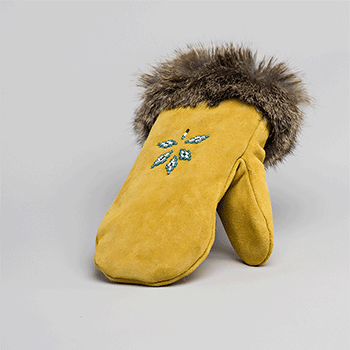 tan leather mitt great plains moccasin factory
