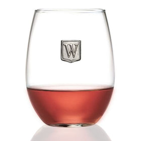 Personalized Stemless Wine Glass with Letter Crest (21 oz)