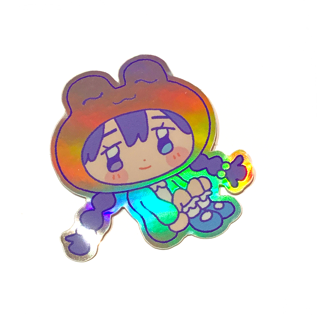Jinx Frog ~ holographic sticker