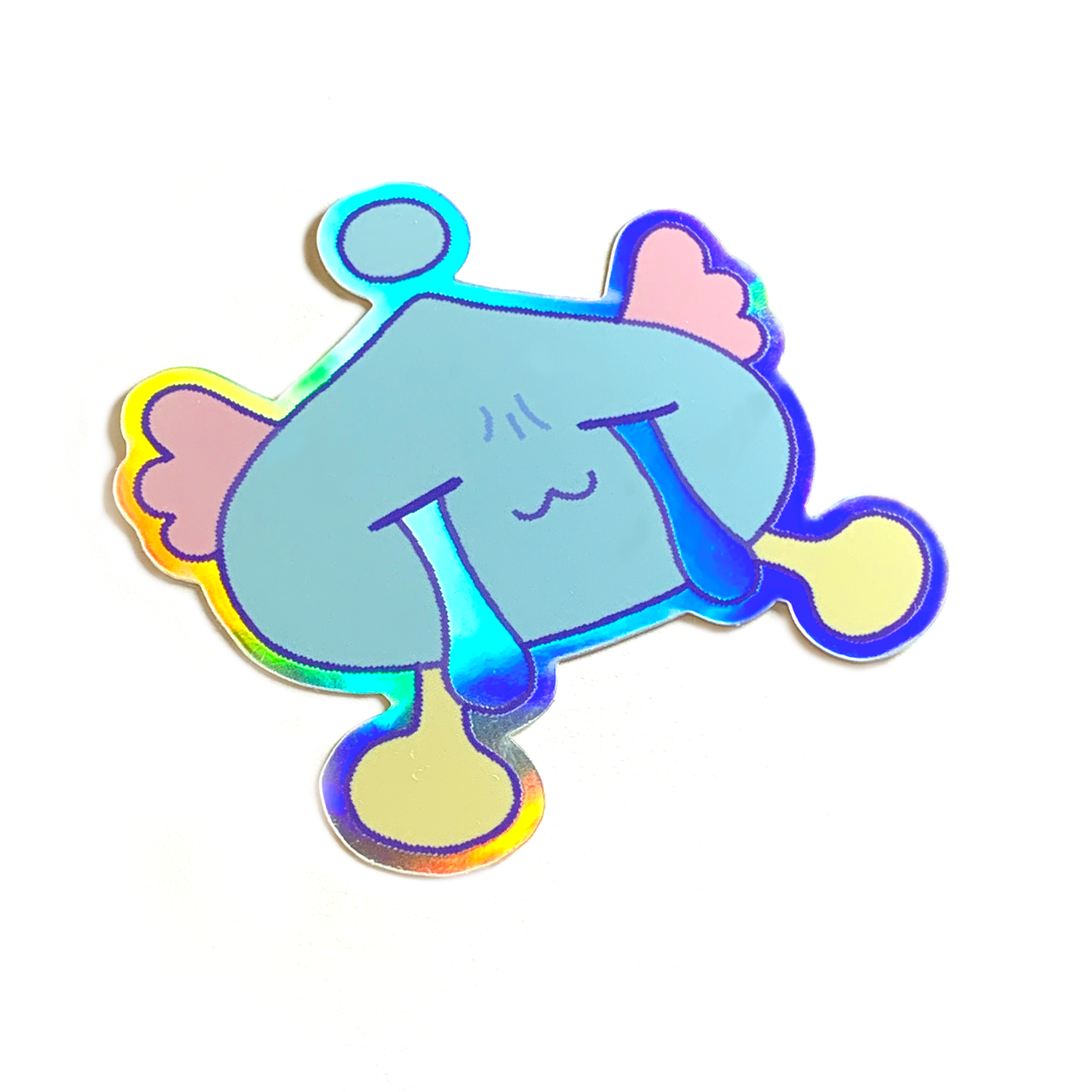 Teary Puni ~ holographic sticker