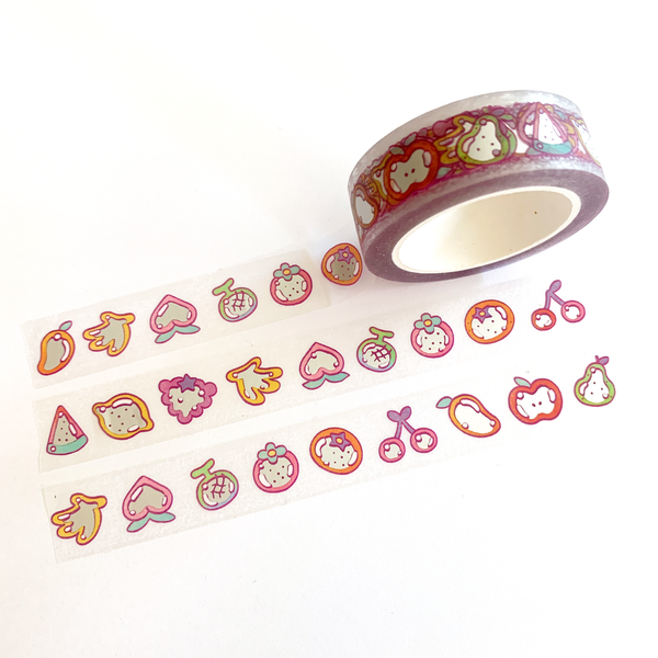 Fruit ~ Clear Foil Washi Tape