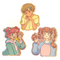 Fruit Girls ~ holographic glitter sticker set