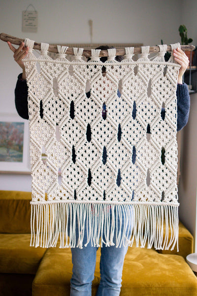 "Large Geometric Macrame Wall Hanging ""Olivia"""