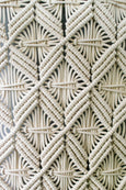 Geometric Macrame Wall Hanging - 5mm Braided Cotton Rope - ~100cm L x ~65cm W