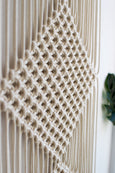 Triple diamond macrame wall hanging