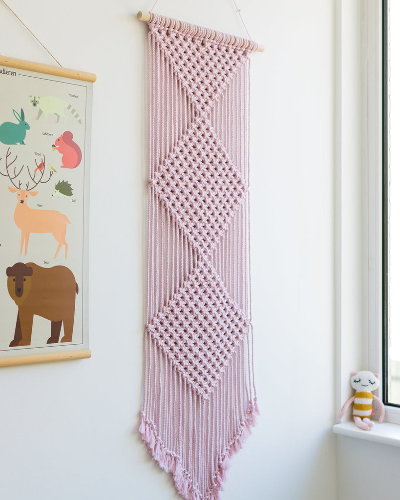 "Macrame wall hanging / 20"" x 50"" / Free international shipping"