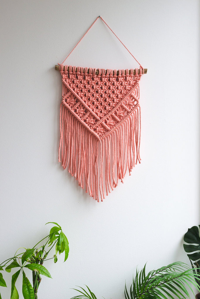 Macrame wall hanging / Nursery decor /  Available in 12 different colors.