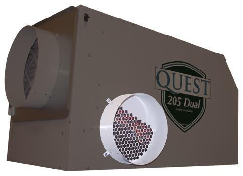 Quest Supply Air Duct Collar for Overhead Style Dehumidifier