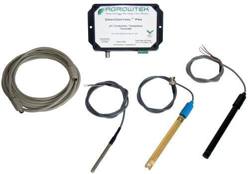 Agrowtek Grow Control Hydro Sensor Kit w/ Probes (pH/EC/Temp)