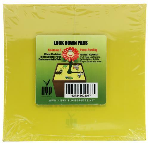 High Yield Products Lock Down Pad 6 in Square (8/Pack) (50/Cs)