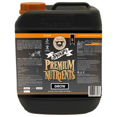 Snoop's Premium Nutrients Grow B Non-Circulating 10 Liter (Soil and Hydro Run To Waste) (2/Cs)