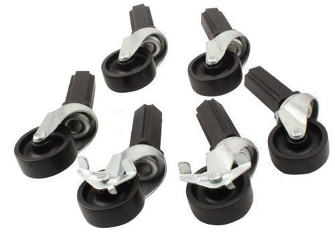 Fast Fit Caster Wheels - 6 pc