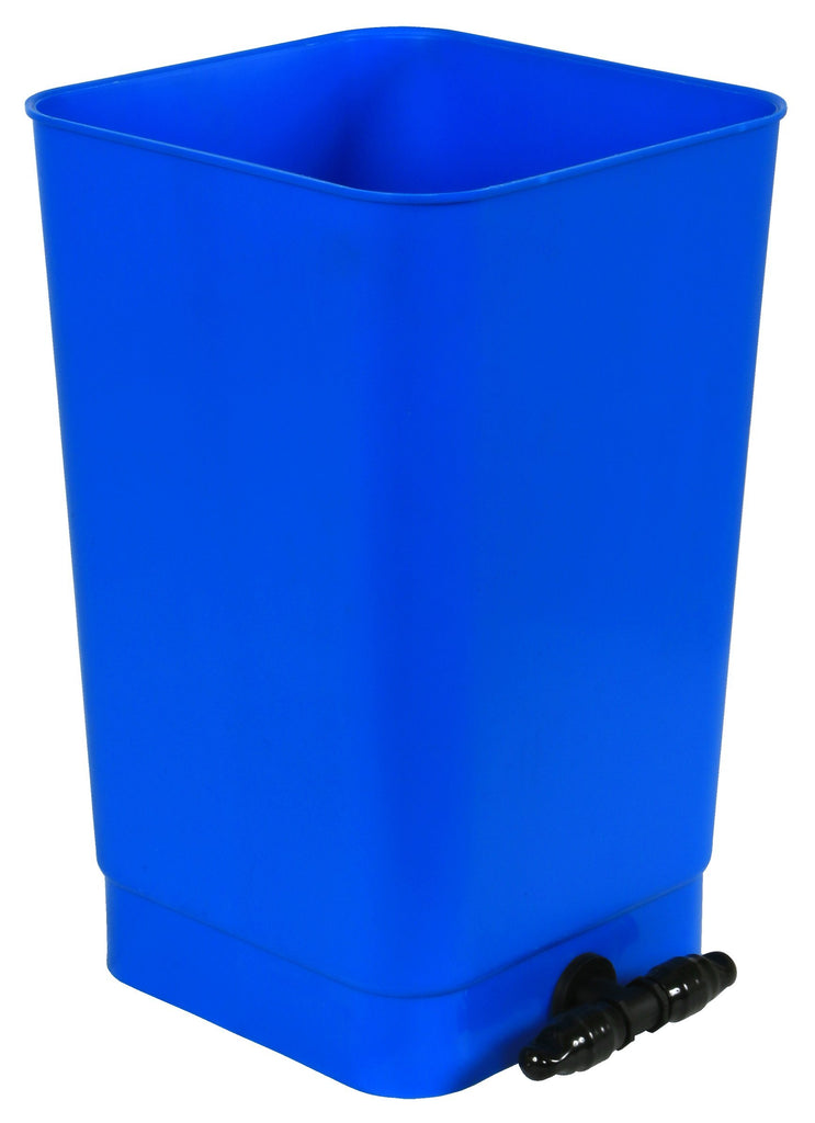 Flo-n-Gro® Bottom Drain Blue Bucket - 4 Gallon