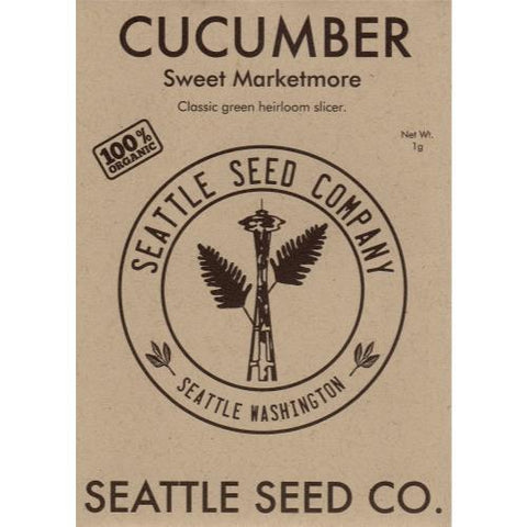 Cucumber - Sweet Marketmore OG, Pack of 6