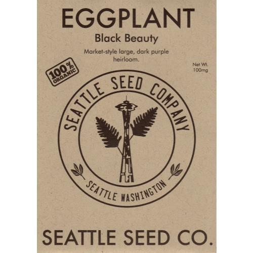 Eggplant - Black Beauty OG, Pack of 6