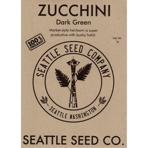 Zucchini - Dark Green OG, Pack of 6