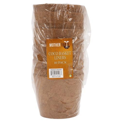 Mother Earth Coco Basket Liner 8 in Bag of 10