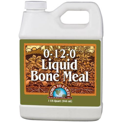 Down To Earth Liquid Bone Meal Quart, Case of 12