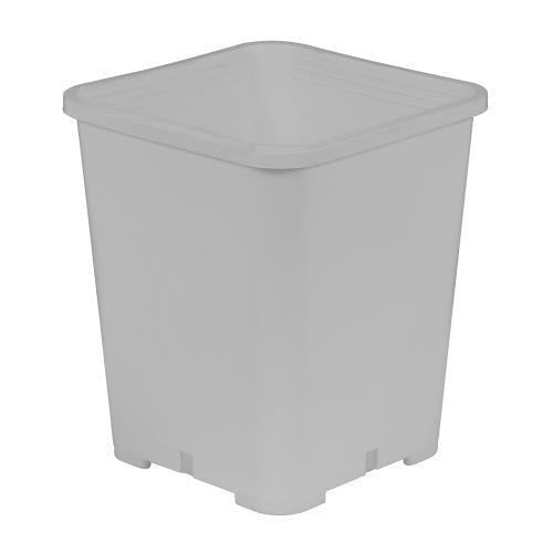 Gro Pro Premium White Square Pot 7 in x 7 in x 9 in (100/Cs)