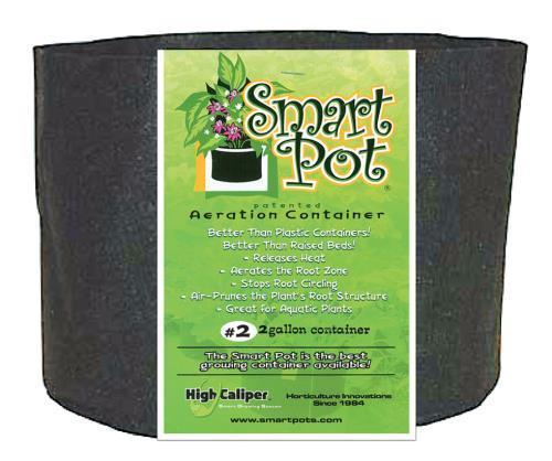 Smart Pot Black 3 Gallon (50/Cs)