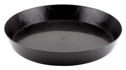 Gro Pro Heavy Duty Black Saucer - 12 in (50/Cs)