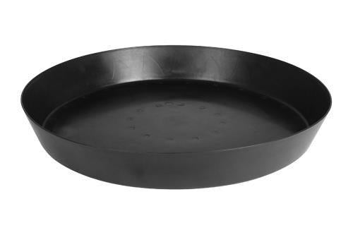 Gro Pro Heavy Duty Black Saucer w/ Tall Sides - 25 in (10/Cs)