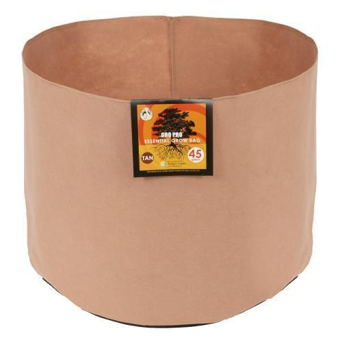 Gro Pro Essential Round Fabric Pot-Tan 30 Gallon