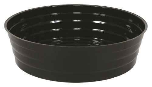 Gro Pro High Wall Black Vinyl Saucer 12 in, Case of 25