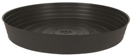Gro Pro High Wall Black Vinyl Saucer 21 in, Case of 20