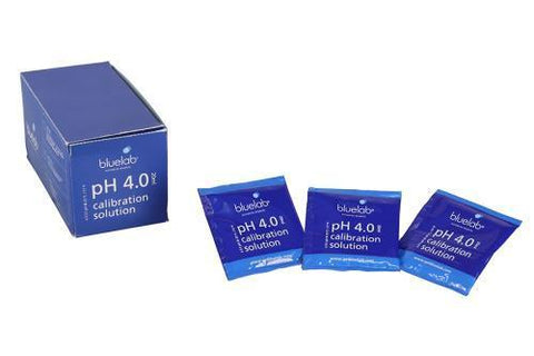 Bluelab pH 4.0 Calibration Solution 20 ml Sachets Box of 25