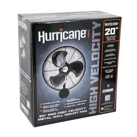 Hurricane Pro High Velocity Metal Wall Mount Fan 20 in
